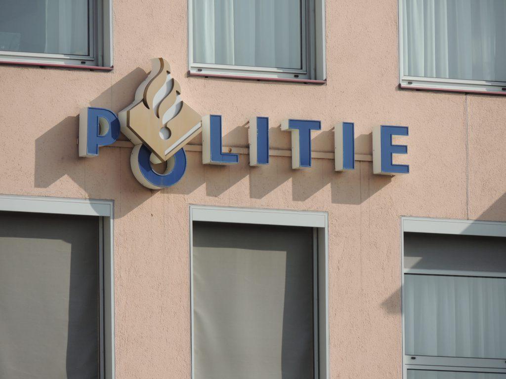Politielogo op gevel Haagseveer Rotterdam
