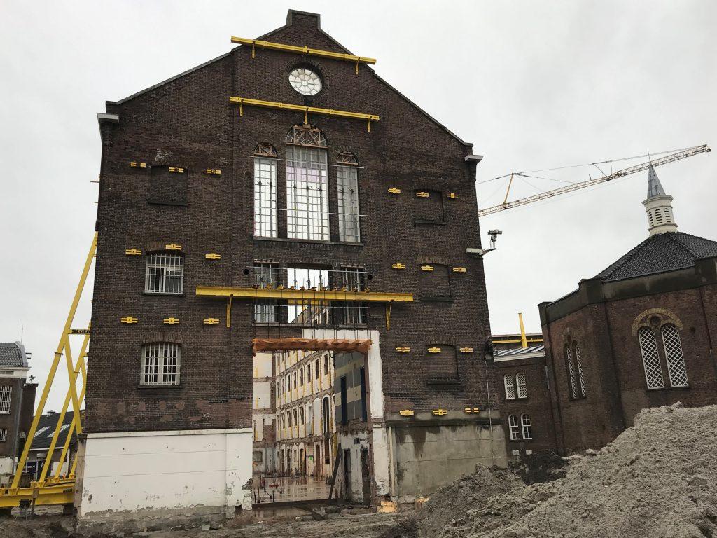 Noordsingel sloop, voormalig gevangenis gebouw in Rotterdam
